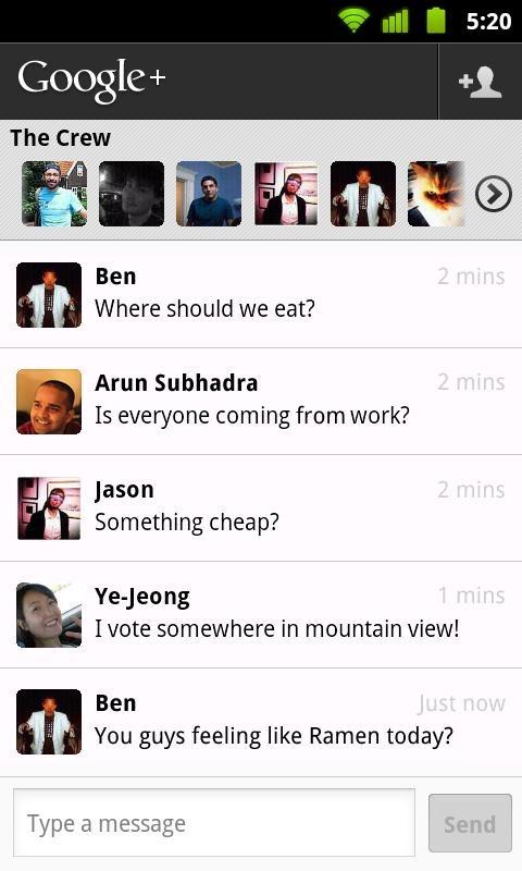 Google + 安卓客户端